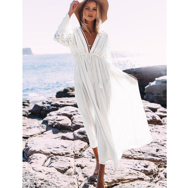 059330be71 Daniela Long Beach dress - Boho chic ,fashion clothing, boho dresses - Blue  Nana