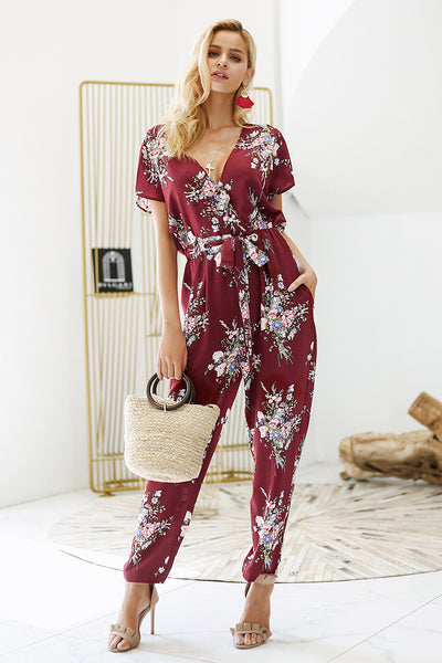 Passion Flower Boho jumpsuit - Boho chic ,fashion clothing, boho dresses - Blue Nana