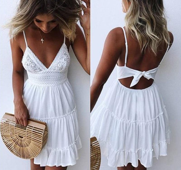 Elegant White Pleated Dresses
