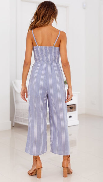Easy Love Jumpsuit - Boho chic ,fashion clothing, boho dresses - Blue Nana
