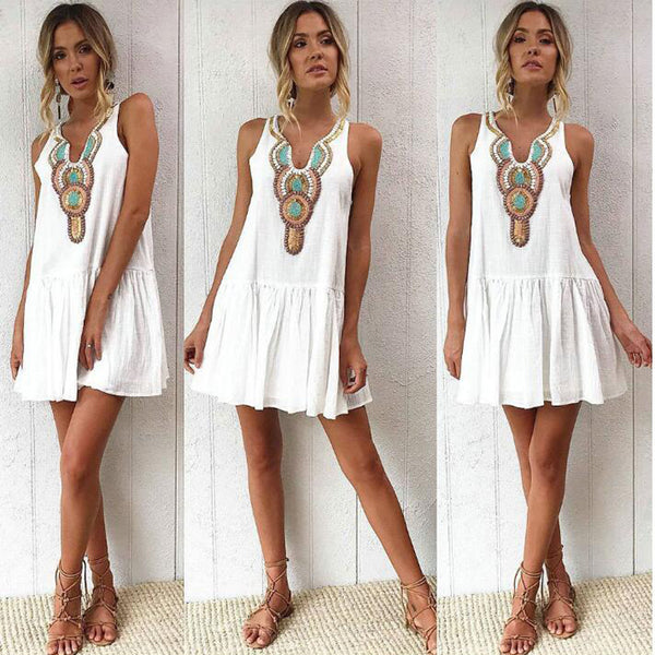 Bella Talisman Dress - Boho chic ,fashion clothing, boho dresses - Blue Nana