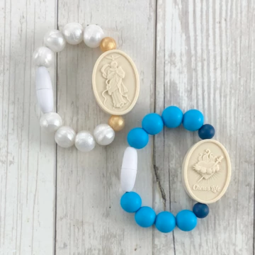 Our Lady Undoer of Knots & Immaculate Heart of Mary | Baby/Little Kid - pearl/gold