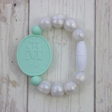 Mint & Pearl Miraculous Medal | Baby/Little Kid