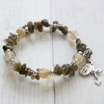St. Therese Sacrifice Bracelet in Labradorite | NEW!