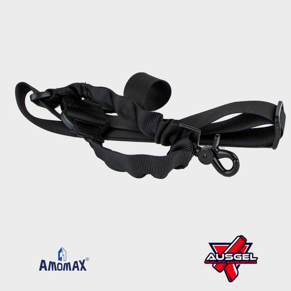 Amomax Single Point Sling w/round Hook (Black)