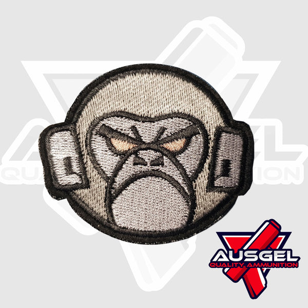 Patch - Gorilla Head (Silver)