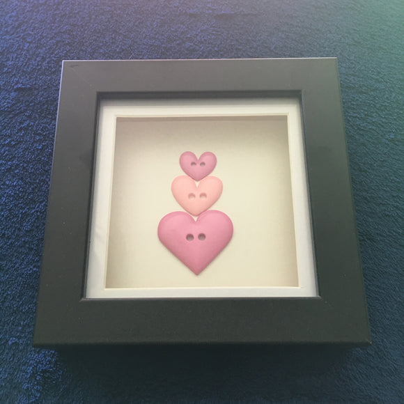 Handmade 'Triple heart' button picture