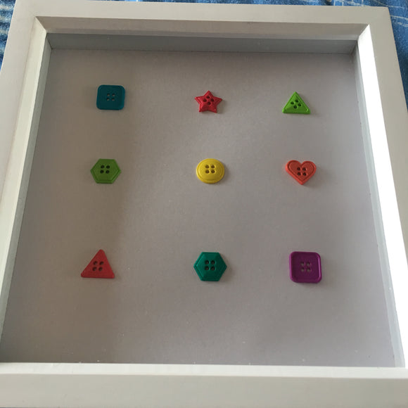 Handmade 'Button shapes' picture