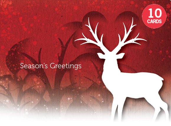 Set of 10 Deer Christmas cards