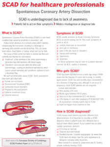SCAD for healthcare professionals downloadable leaflet