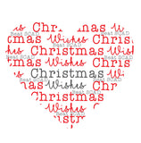 Set of 10 Seasonal heart Christmas cards