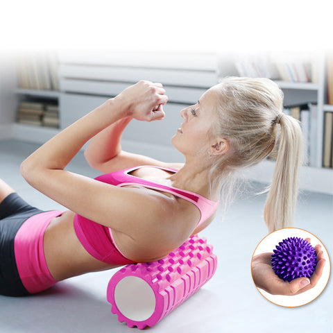 Foam Roller for Trigger Point Therapy (& Warm Ups) + Free Trigger Point Ball included