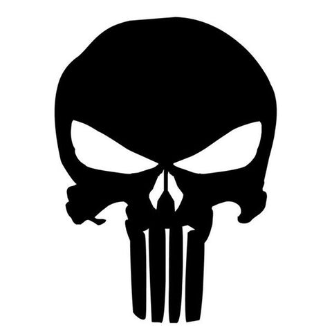 PUNISHER Skull Stickers --Motorcycle and Car Decals