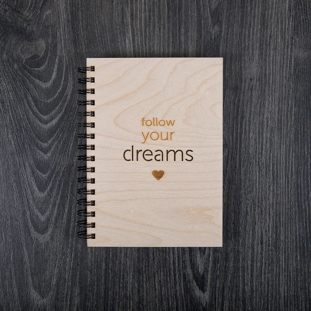 Follow your dreams - Upea puinen muistikirja