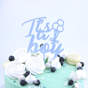 Baby Shower Kakkukoristeet | Baby girl | It's a boy