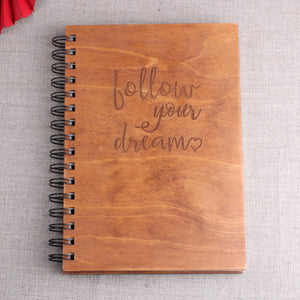 Follow your dreams - puinen muistikirja