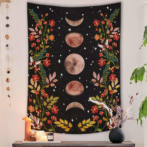 Boho Psychedelic Moon Tapestry