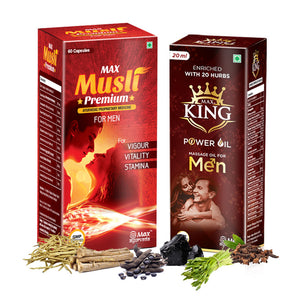 Max Musli Premium & King power Oil - Combo for Stamina
