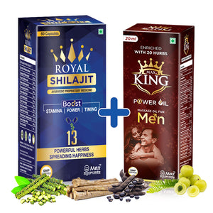 Royal Shilajit with Gold Bhasam & Kesar - Combo for Power