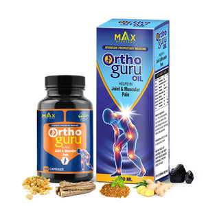 Ortho Guru Oil + Capsules combo for Joint & Muscular Pain