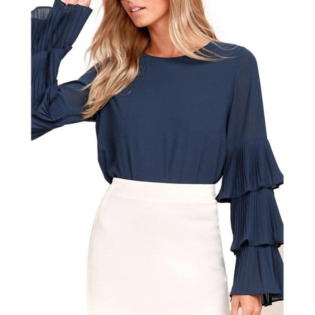 Flared Long Sleeve Top