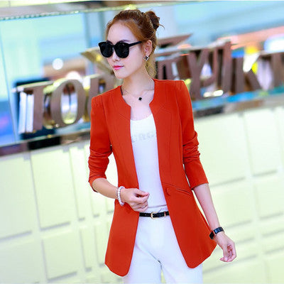 Single Button Women's Blazers