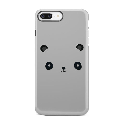 Cute White And Black Panda Minimal iPhone X Case