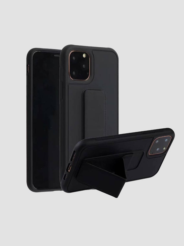 1pc Solid iPhone Case With Holder