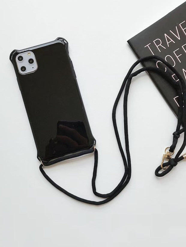 Solid iPhone Case With Lanyard
