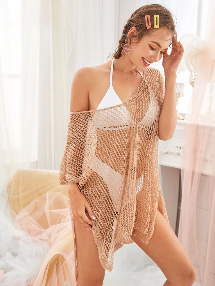 Hollow Out Sheer Cover Up