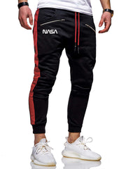 Men Letter Graphic Zip Detail Sweatpants