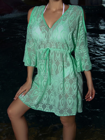 Tie Waist Sheer Cover Up