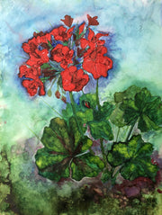 Geraniums Painting : Art Prints and Greeting Cards