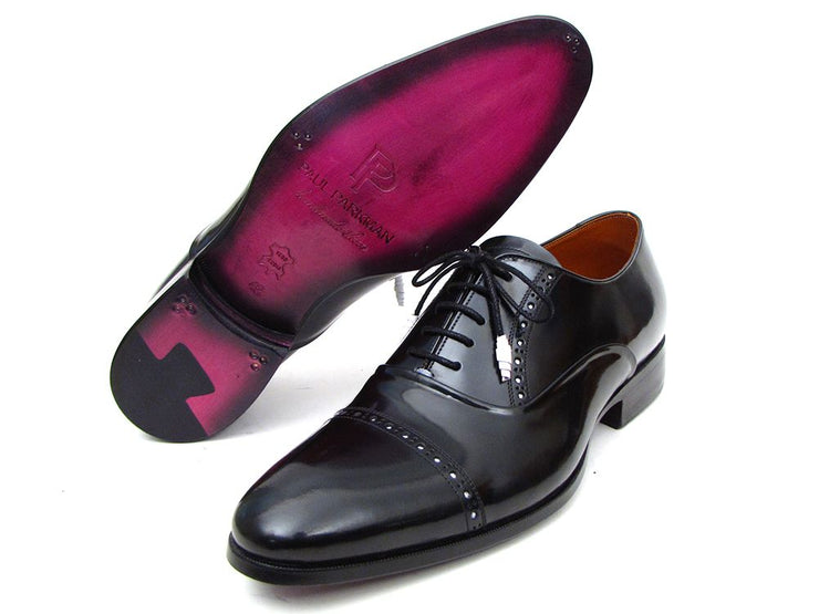 Paul Parkman Men's Captoe Oxfords Black Dress Shoes (ID#78RG61)