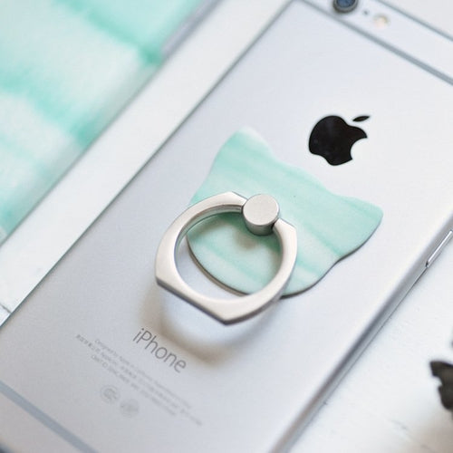 Green Art iPhone Case with Smart Ring