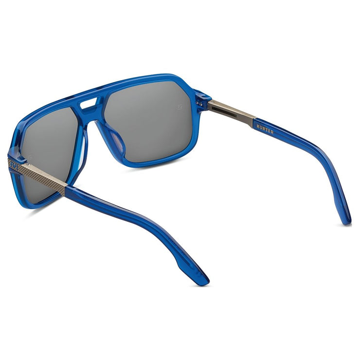 Hunter: Matte Midway Blue - Antique Brass / Pacific Blue Flash Lens