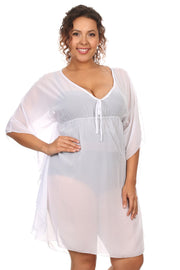 Women's Plus Size Chiffon Beach Dress Swimwear Cover-Up Made in the USA
