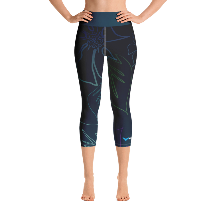 Women's Active Comfort Sport Wild Side Capri Leggings