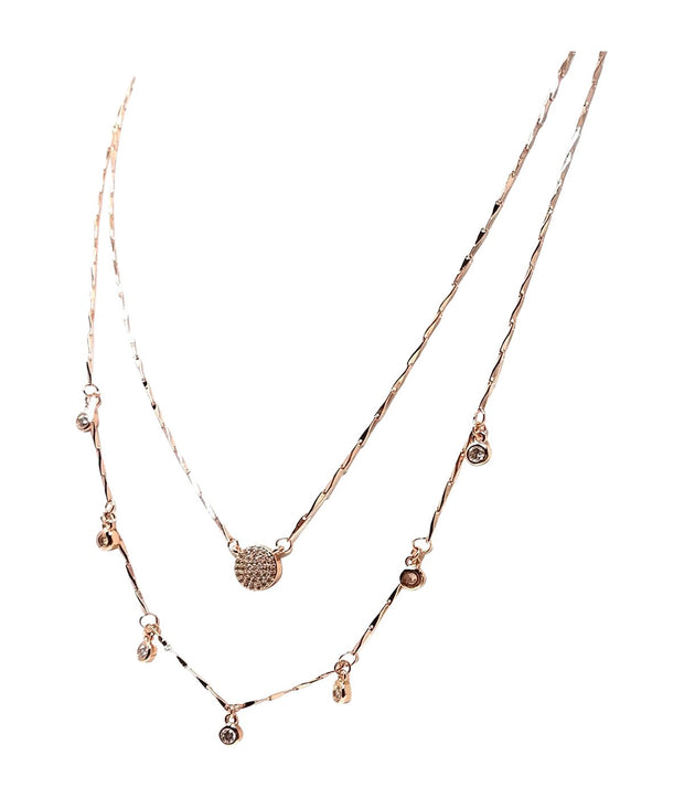 Laconic Style Layered Necklace J08 - 3 Color