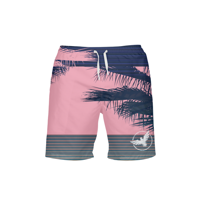 Men's FYC UPF 40+ Stripe Printed Beach Shorts
