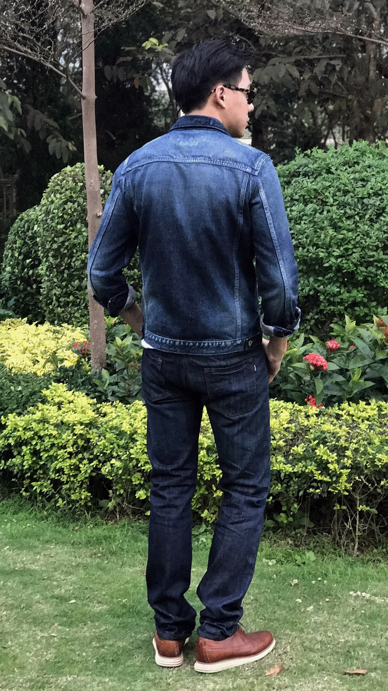 Selvage Dark Blue Jeans