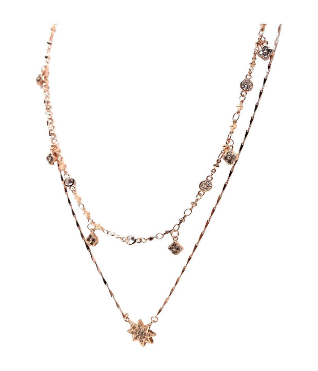 Laconic Style Layered Necklace J03 - 3 Colors