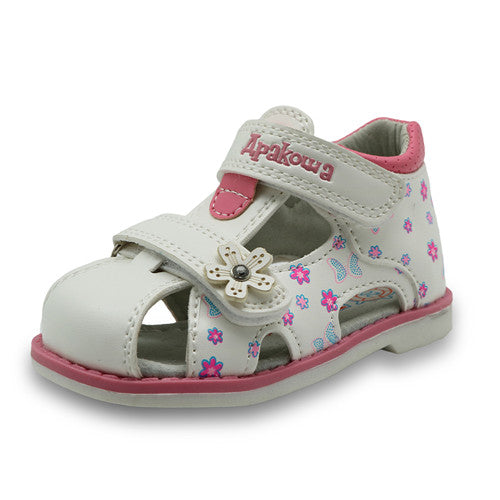 Apakowa Girl's Closed Toe Toddler Sandal