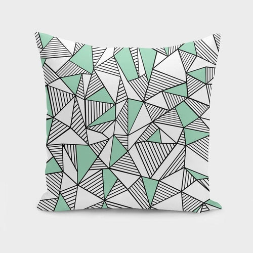 Ab Lines With Mint Blocks  Cushion/Pillow