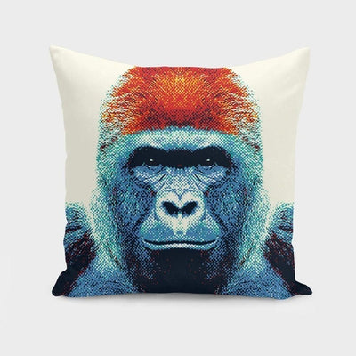 Gorilla - Colorful Animals  Cushion/Pillow