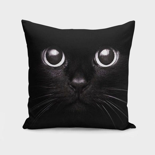 The Black Cat   Cushion/Pillow