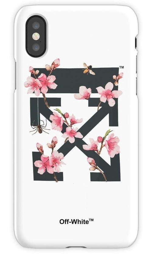 Off White Cherry Blossom Mobile Cover