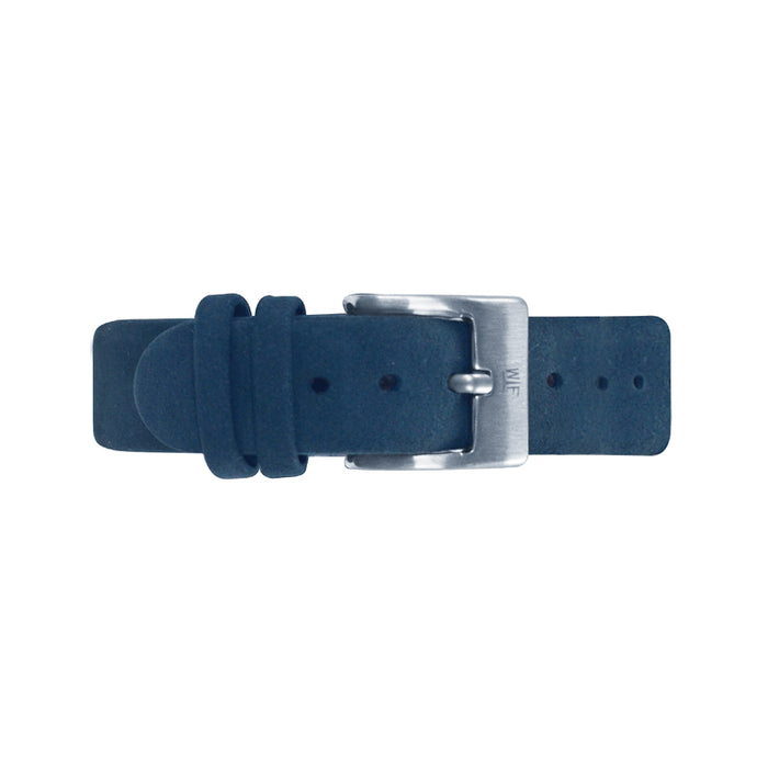 Blue Leather Band 36mm