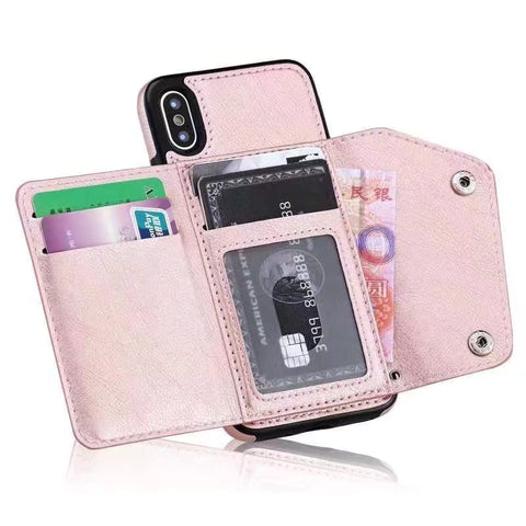 brand new ae80e 805fa Folded Card Holder Phone Case For iPhone