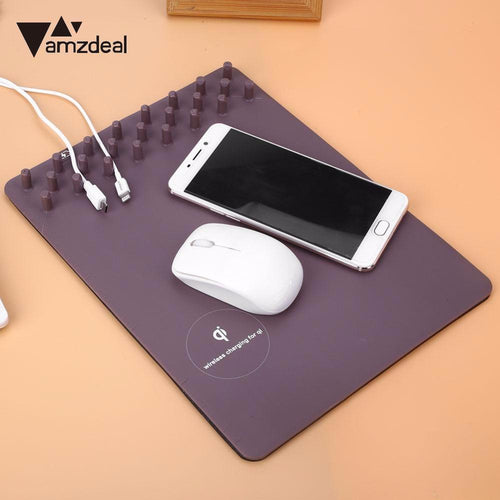 Buy Multi-Function Organizer Mouse Pad With Wireless Charging from Castookie Free Worldwide Shipping